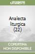 Analecta liturgica (22) libro
