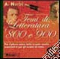 Temi di letteratura italiana dell'800 e '900. Manopik libro di Nurbi Antonio