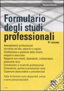 Formulario degli studi professionali libro di Balducci Daniele