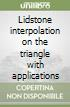 Lidstone interpolation on the triangle with applications libro