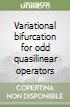 Variational bifurcation for odd quasilinear operators libro