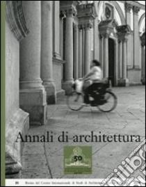 Annali di architettura (20) libro