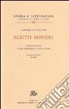 Scritti minori. Vol. 5: 1931-1947 libro