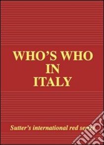 Who's who in Italy 2009 libro