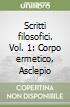 Scritti filosofici (1) libro