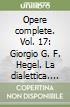 Opere complete (17) libro