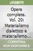 Opere complete (20) libro