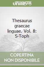Thesaurus graecae linguae (8) libro di Estienne Henri