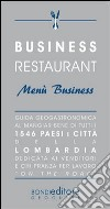 Business restaurant. Men� business