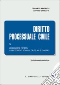 Diritto processuale civile. Vol. 4: L'esecuzione forzata, i procedimenti sommari, cautelari e camerali libro di Carratta Antonio; Mandrioli Crisanto