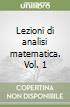 Lezioni di analisi matematica (1) libro