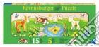 Baby puzzle in legno 5 pz sagomati - i miei primi cuccioli puzzle