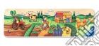 Baby puzzle in legno 5 pz sagomati - la mia prima fattoria puzzle