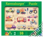 Baby puzzle in legno 10 pz sagomati - veicoli puzzle