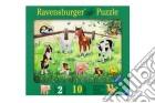 Baby puzzle in legno 10 pz sagomati - cuccioli di animali puzzle