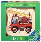 Baby puzzle in legno 5 pz - camion dei pompieri puzzle