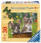 Puzzle in legno 30 pz - Gattini. Due vispi osservatori