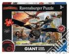 Ravensburger 05435 - Puzzle Da Pavimento 24 Pz - Dragons - In Volo Con Sdentato puzzle