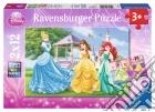 Ravensburger 07555 - Puzzle 2x12 Pz - Principesse Disney puzzle