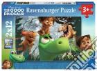 Ravensburger 07571 - Puzzle 2x12 Pz - The Good Dinosaur - Il Viaggio Di Arlo puzzle