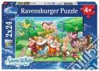 Ravensburger 08859 - Puzzle 2x24 Pz - Biancaneve E I Sette Nani puzzle