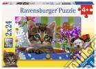 Ravensburger 08971 - Puzzle 2x24 Pz - Simpatici Amici puzzle