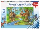 Ravensburger 09117 - Puzzle 2x24 Pz - Gli Animali Della Foresta puzzle