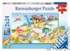 Ravensburger 09118 - Puzzle 2x24 Pz - Dinosauri Colorati puzzle