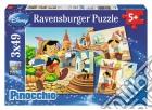 Puzzle 3x49 pz - dcl pinocchio e la fata  puzzle
