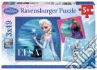 Ravensburger 09269 - Puzzle 3x49 Pz - Frozen - Elsa, Anna E Olaf puzzle