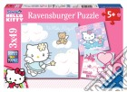 Puzzle 3x49 pz - hky hello kitty