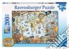 Ravensburger 12802 - Puzzle XXL 200 Pz - La Mappa Dei Pirati puzzle
