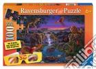Puzzle 3d + occhialini - Animali d'Africa di notte