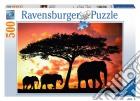 Puzzle 500 pz - Elefanti. Passeggiata al crepuscolo