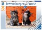 Puzzle 500 pz - kitten umbrella