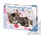 Puzzle 1000 pz - gattino sulla coperta puzzle