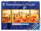 Puzzle 1000 pz - trittico: papaveri in toscana puzzle
