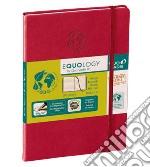 Taccuino equology a righe 16x24 rosso ciliegia articolo per la scrittura di Quo Vadis