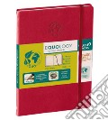 Taccuino equology a righe 16x24 rosso ciliegia scrittura