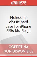 Moleskine classic hard case for iPhone 5/5s kh. Beige articolo per la scrittura