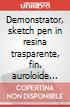 Demonstrator, sketch pen in resina trasparente, fin. auroloide rossa, crom. (regalo) scrittura
