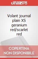 Volant journal plain XS geranium red/scarlet red articolo per la scrittura