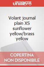 Volant journal plain XS sunflower yellow/brass yellow articolo per la scrittura