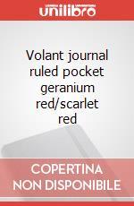 Volant journal ruled pocket geranium red/scarlet red articolo per la scrittura