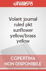 Volant journal ruled pkt sunflower yellow/brass yellow articolo per la scrittura