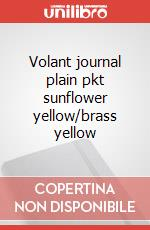 Volant journal plain pkt sunflower yellow/brass yellow articolo per la scrittura