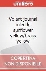 Volant journal ruled lg sunflower yellow/brass yellow articolo per la scrittura