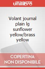Volant journal plain lg sunflower yellow/brass yellow articolo per la scrittura