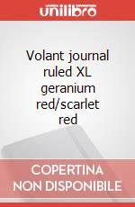 Volant journal ruled XL geranium red/scarlet red articolo per la scrittura
