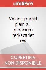 Volant journal plain XL geranium red/scarlet red articolo per la scrittura